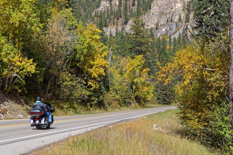 Folk på en nSpearfishkanjon för moped I på nedgången royaltyfri fotografi