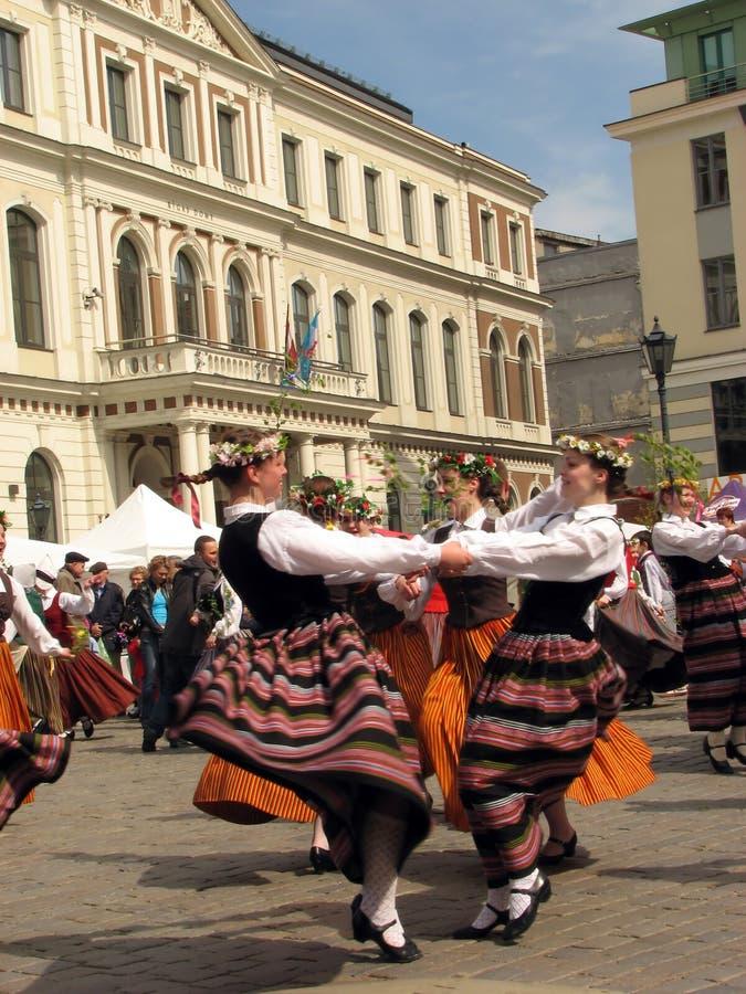 Folk Party In Riga Editorial Photo