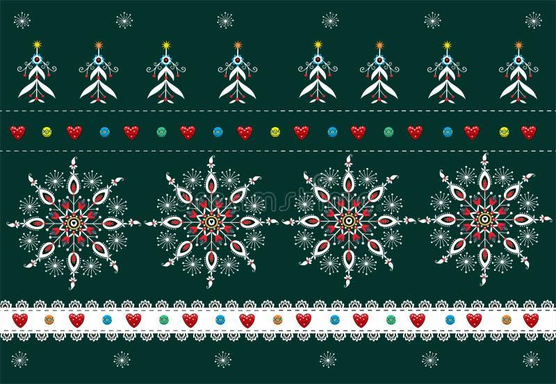 Download Folk Pattern Christmas Background Stock Vector - Image: 34630943