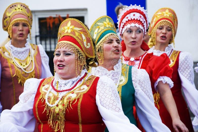 folk pokrovsky rysssong för kör royaltyfria bilder