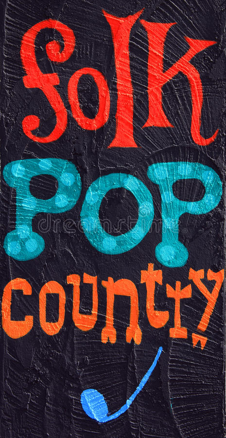 Folk, pop, country royalty free stock image