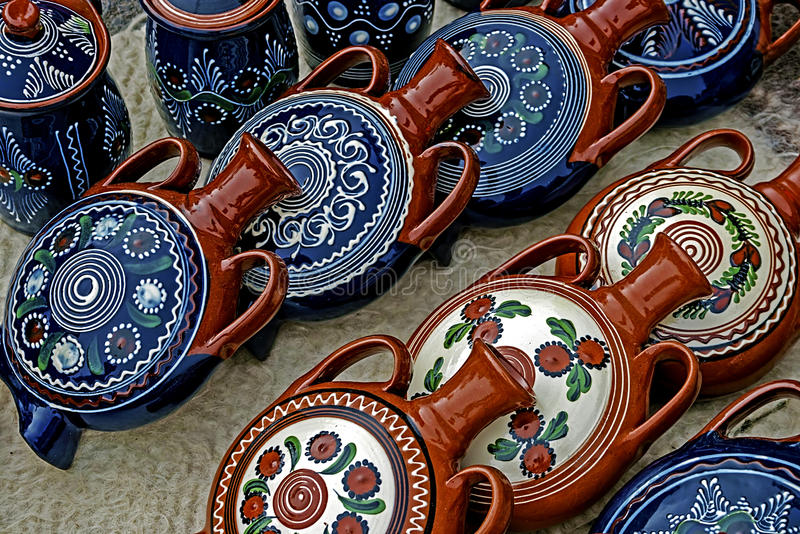Folk pottery 2 royalty free stock images