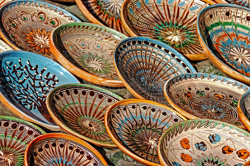 Folk pottery 6 royalty free stock images