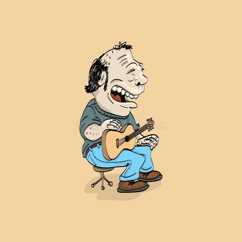 Download Folk singer stock illustration. Image of cartoon, instrument - 22462467