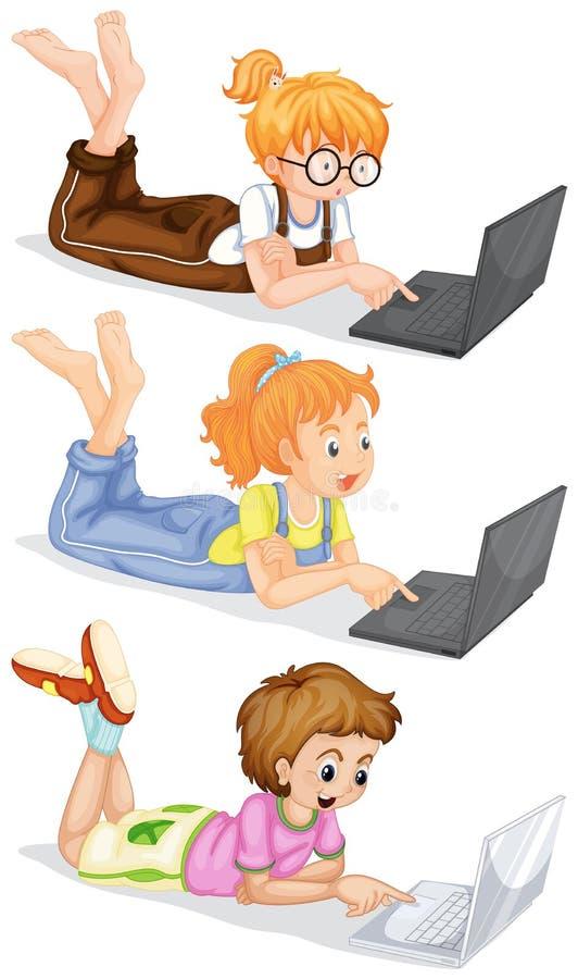 Download Folk Som Använder Bärbar Datordatoren Vektor Illustrationer - Illustration av objekt, serie: 78730322