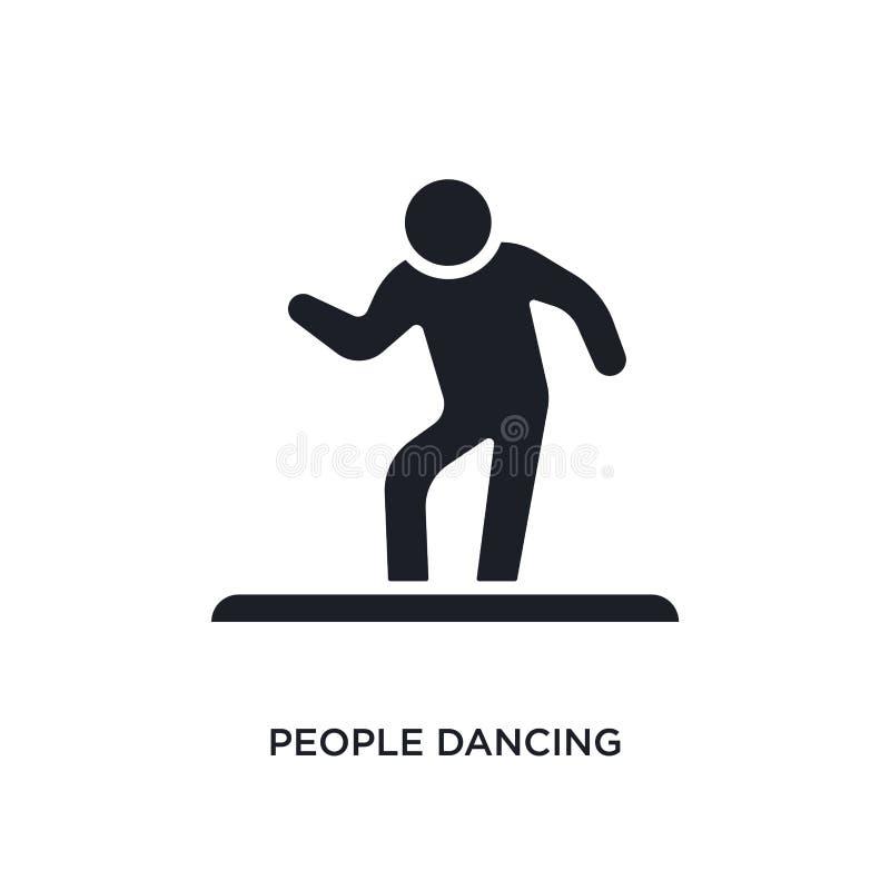 folk som dansar den isolerade symbolen enkel beståndsdelillustration från fritids- lekbegreppssymboler folk som dansar det redige stock illustrationer