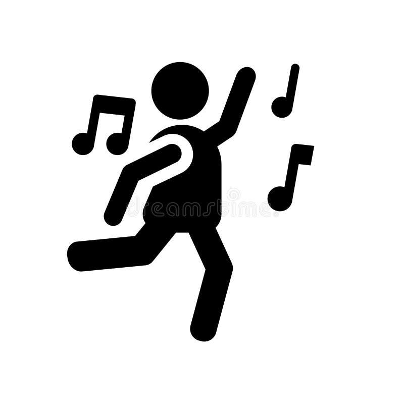 Folk som dansar symbolssymbolen  royaltyfri illustrationer