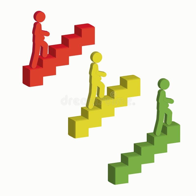 Folk som går på trappan arkivbilder