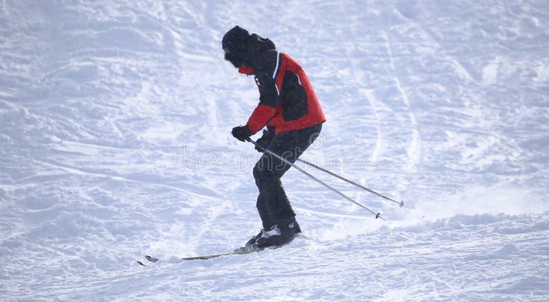 Download Folk som skidar i vintern fotografering för bildbyråer. Bild av elevator - 106832171