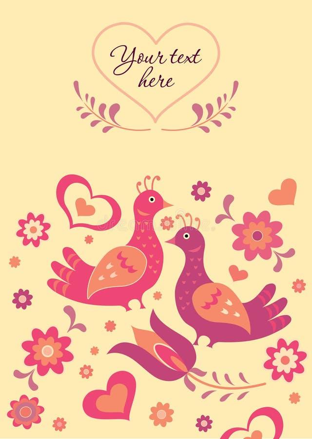 Folk style card royalty free illustration