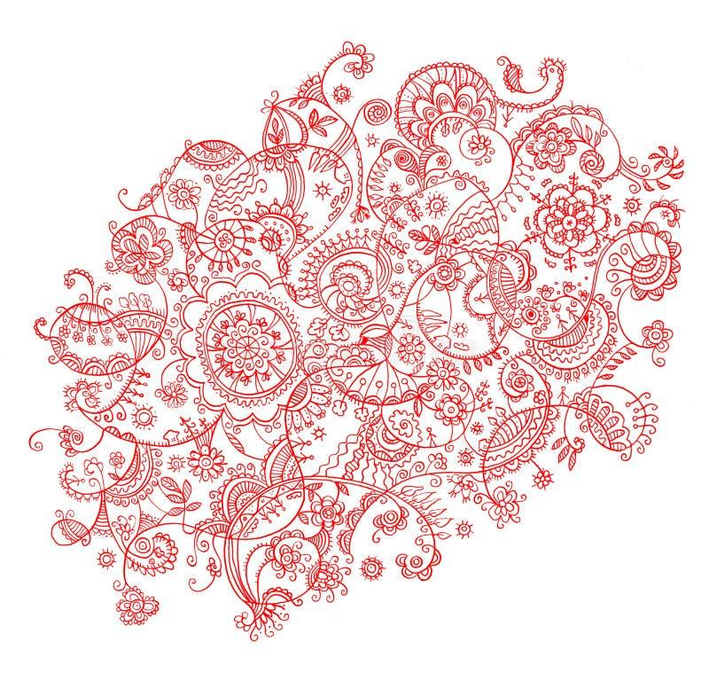 Download Folk-style draw background stock illustration. Image of line - 23639240