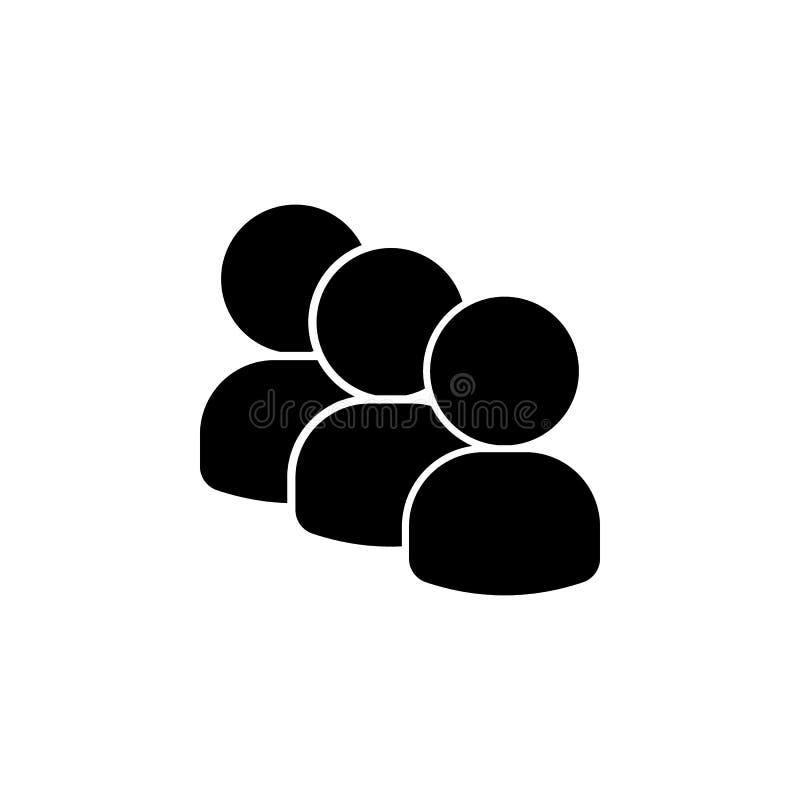 folk symbol för tre avatars Beståndsdel av en grupp människorsymbol Högvärdig kvalitets- symbol för grafisk design tecken och sym stock illustrationer