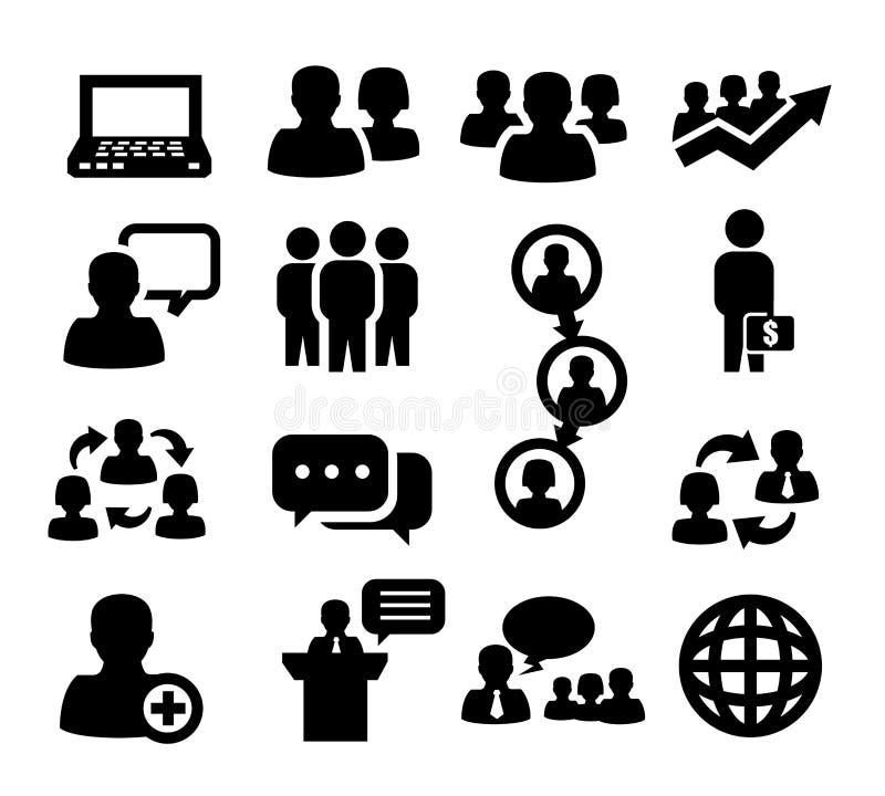 Folk symboler vektor illustrationer