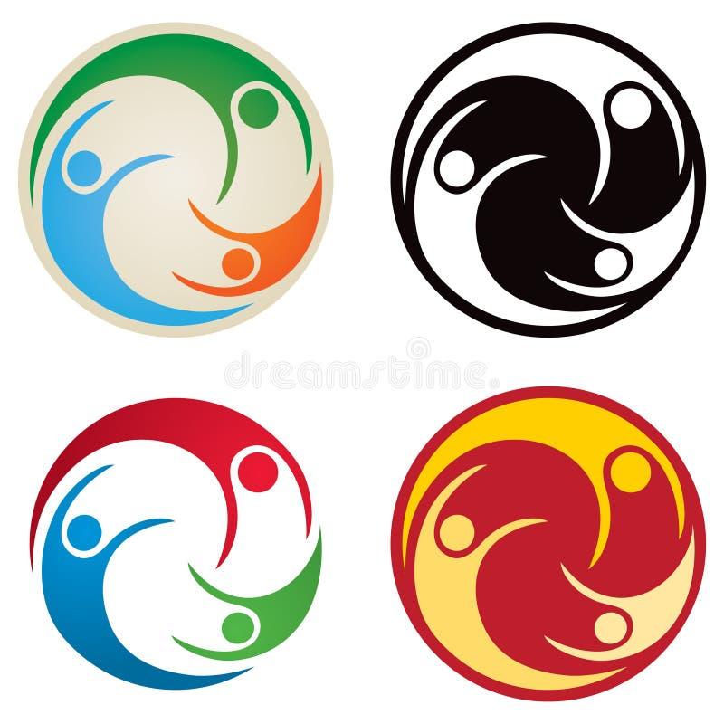 Folk Tillsammans Logo Arkivbilder