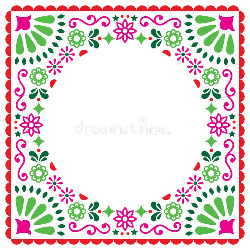 Folk vector greeting card mexican style wedding or party download folk vector greeting card mexican style wedding or party invitation floral pink and stopboris Images