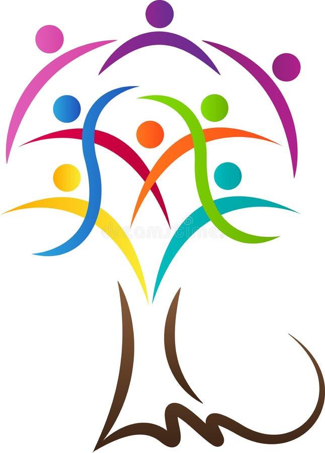 Folkanslutningsträd royaltyfri illustrationer