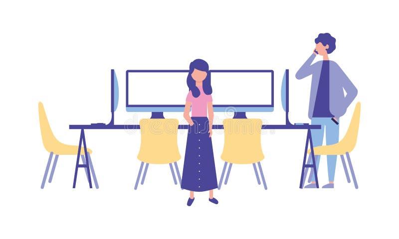 Folkarbetsplatsaktivitet vektor illustrationer