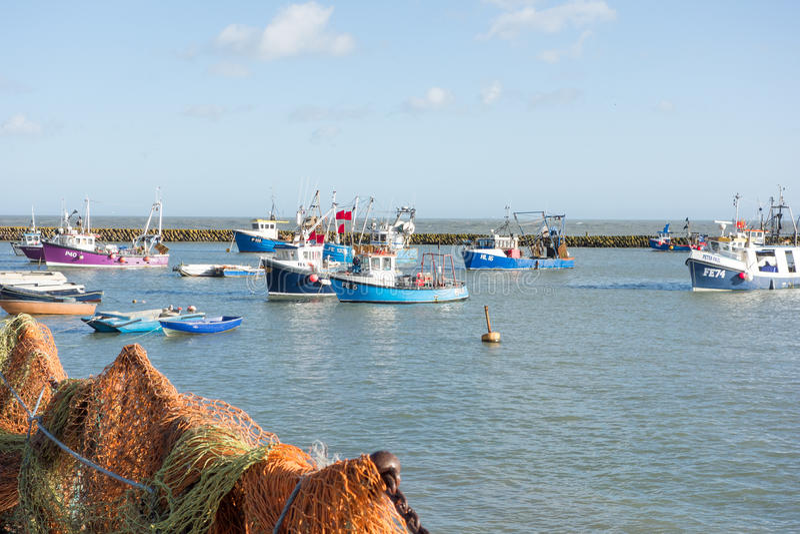 Folkestone harbour, Kent, UK royalty free stock photography