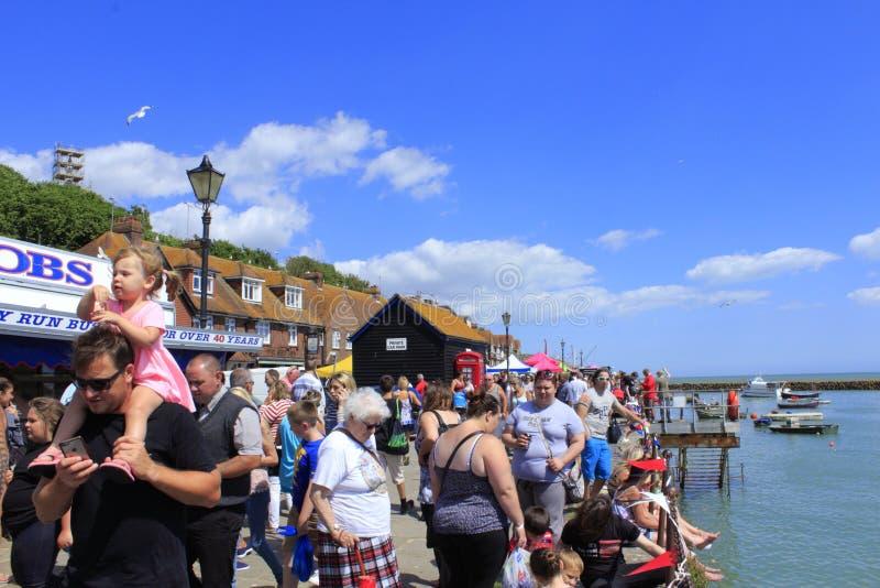 Folkestone harbour Trawler Race visitors UK royalty free stock photos