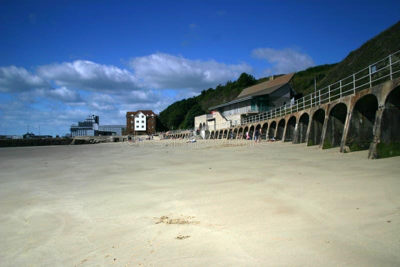 Folkestone-Strand, Kent lizenzfreies stockfoto