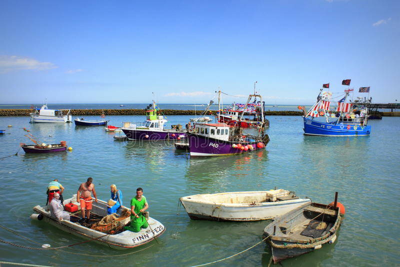 Folkestonehaven Engeland stock afbeelding