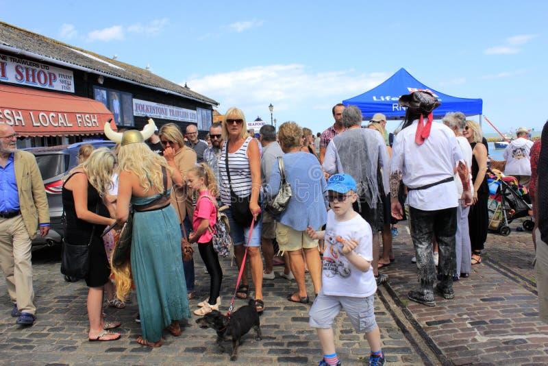Folkestonehaven funfair het UK stock fotografie