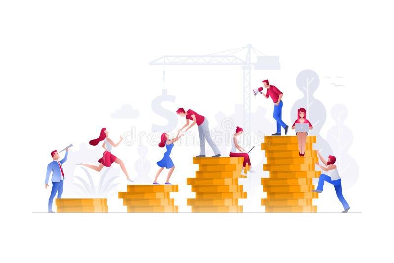 Folket arbetar på finansiella frågor vektor illustrationer