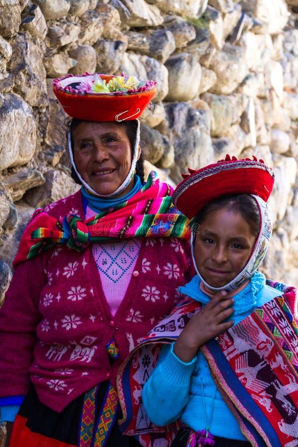 Folket av Peru arkivbild