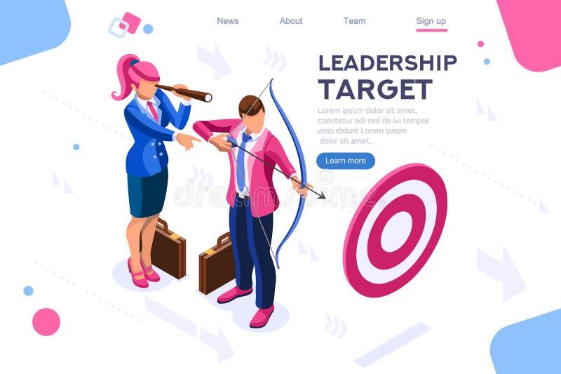 Folket för jobbhandling uppsätta som mål ledarskap vektor illustrationer