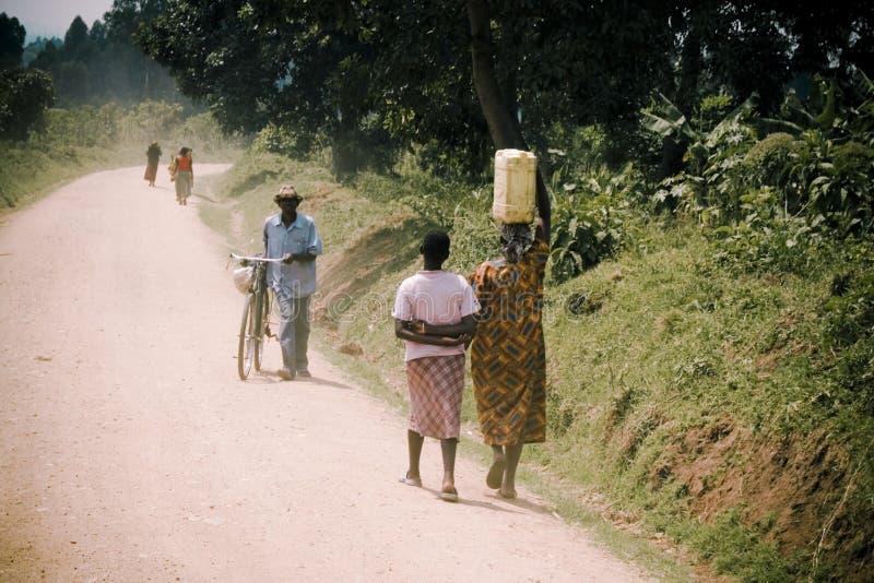 Lantlig plats i Afrika arkivbilder