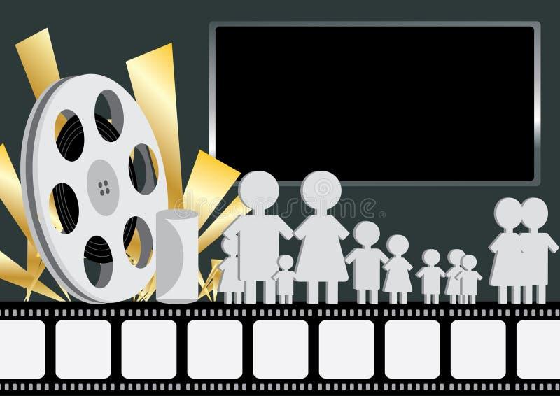 Folket Like Film_eps vektor illustrationer
