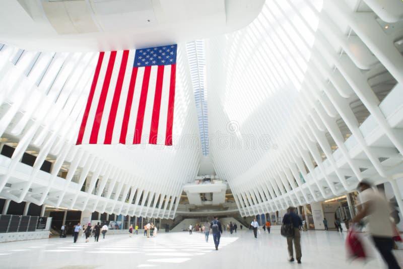 Folkhop av World Trade Center fotografering för bildbyråer