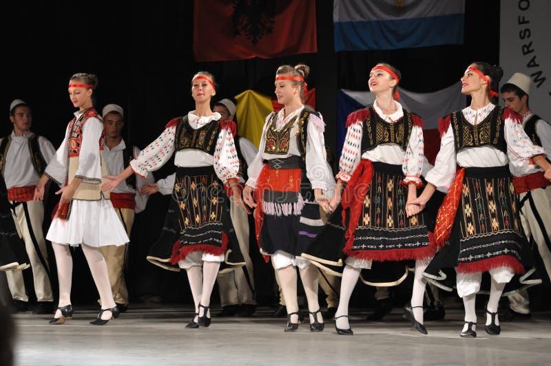 Folklore albanés imágenes de archivo libres de regalías