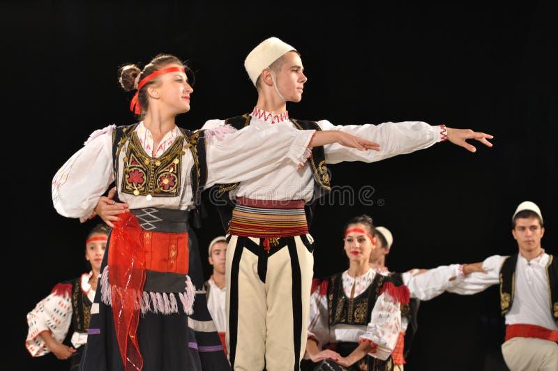 Folklore albanais photographie stock libre de droits