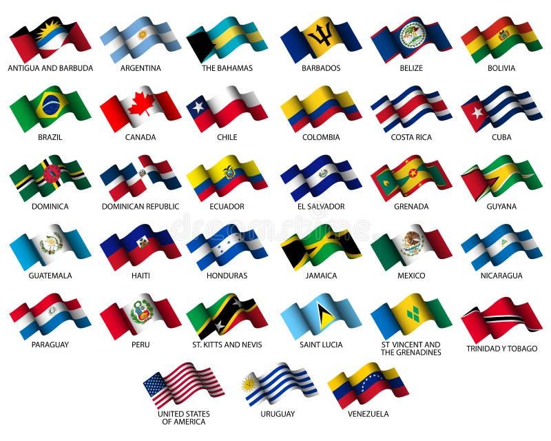 american flags stock illustration