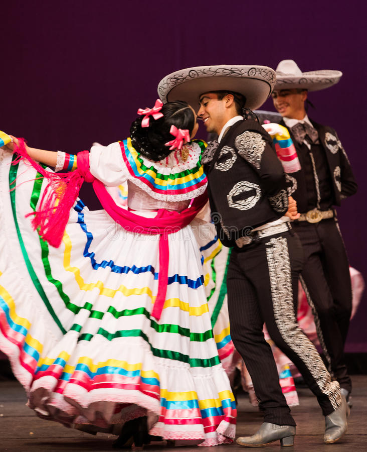 Folkloric ballet of Mexico royalty free stock image