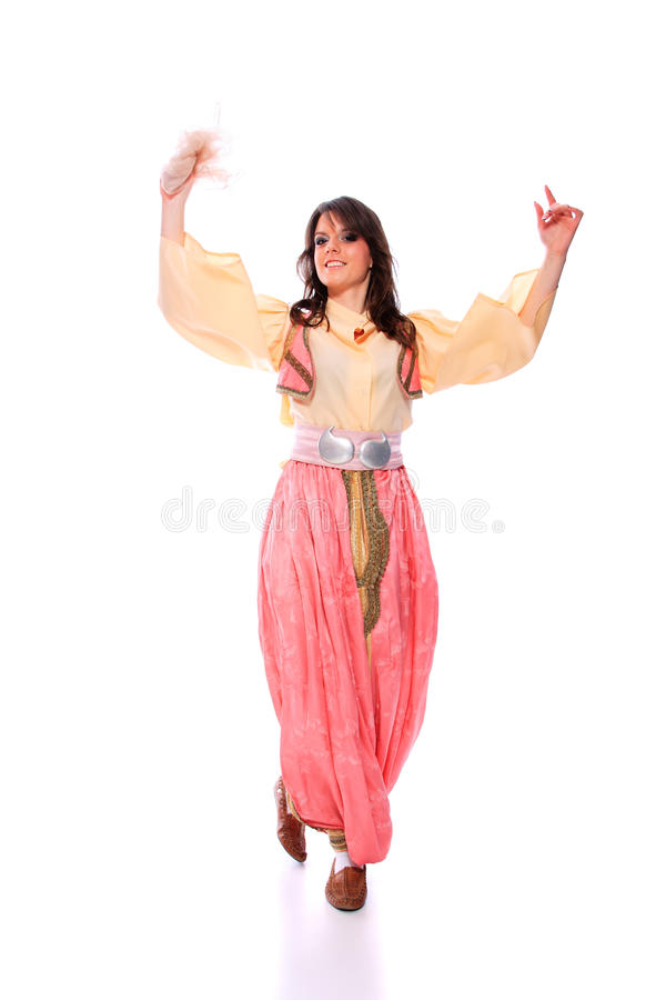 Folkloric costume from the Balkans stock photos