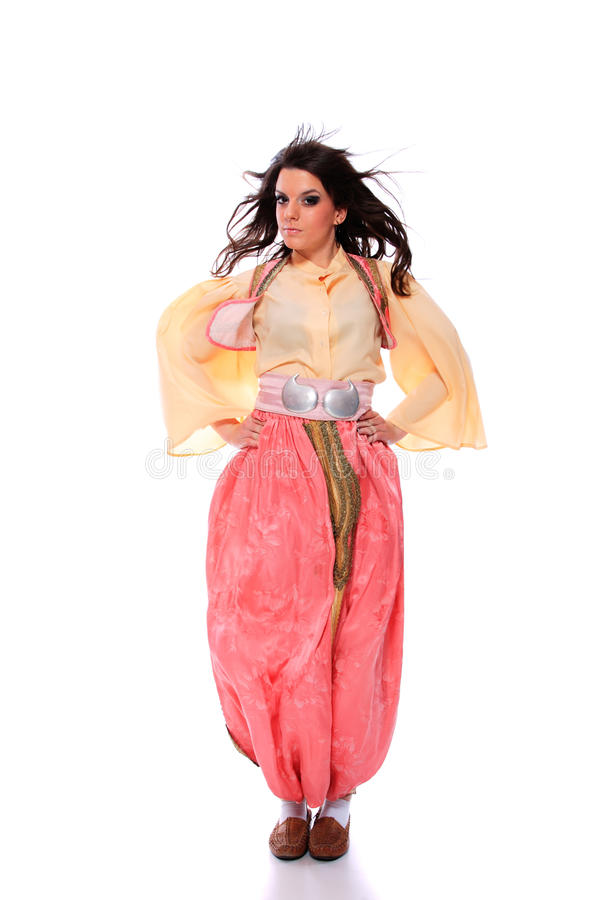 Folkloric costume from the Balkans royalty free stock photo
