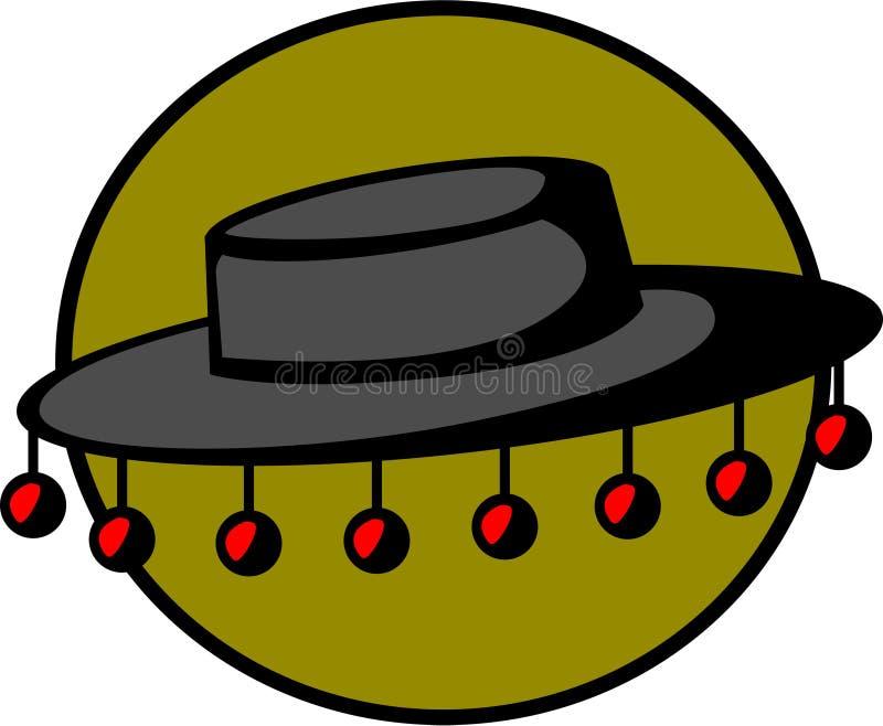folkloric hatt royaltyfri illustrationer