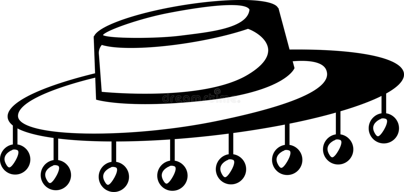 folkloric hatt för flamenco vektor illustrationer