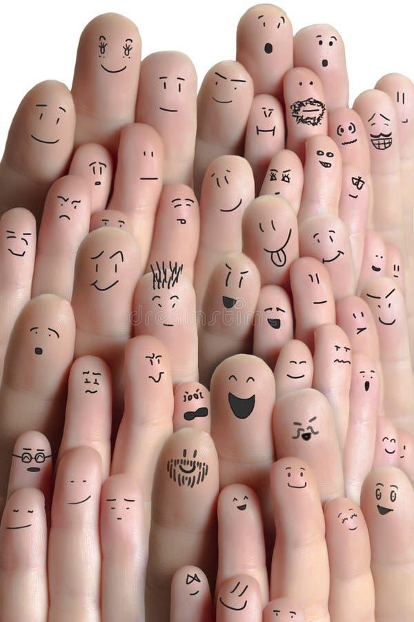 Folkmassa av fingrar arkivfoto