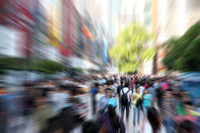 Folkmassafolk arkivbild