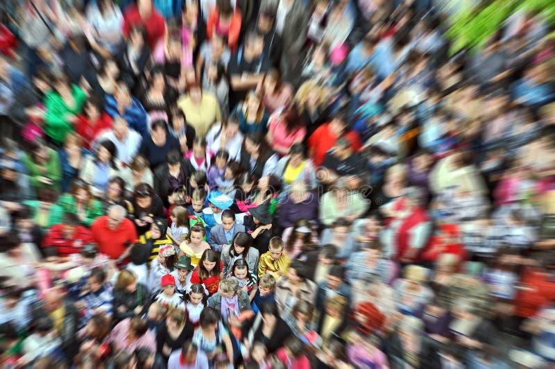 Folkmassafolk arkivfoto