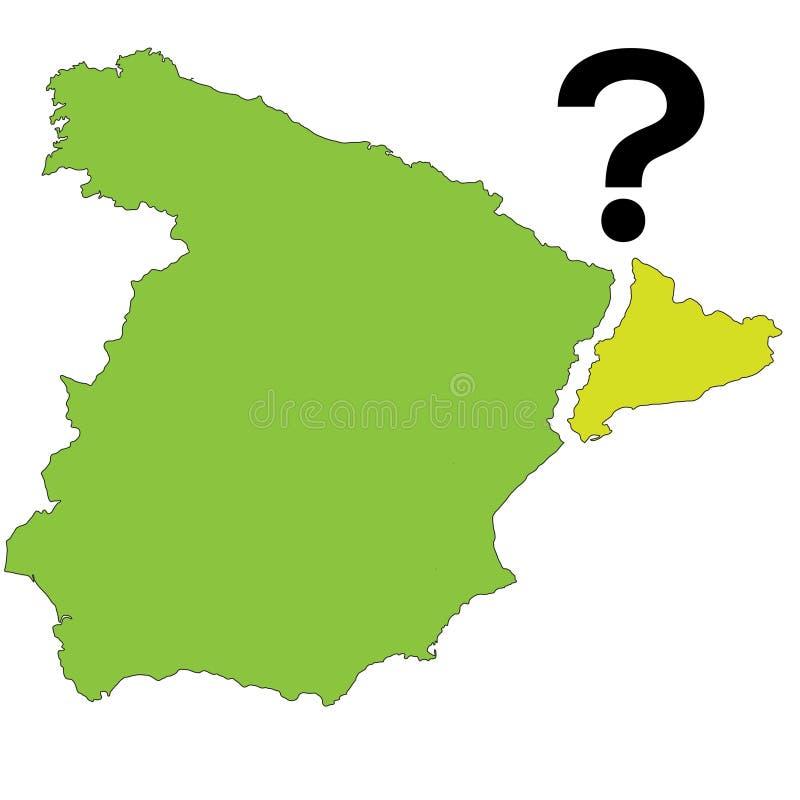 Folkomröstning Spanien - Catalonia också vektor för coreldrawillustration vektor illustrationer