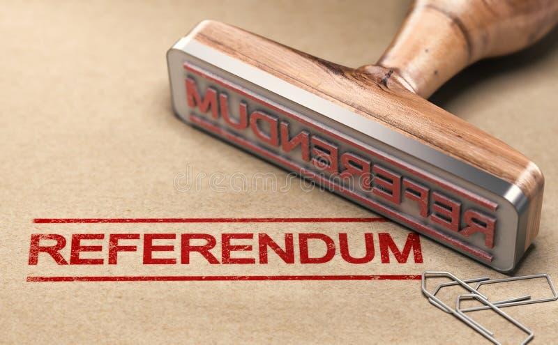 Folkomröstningen demokratiskt och direkt röstar stock illustrationer