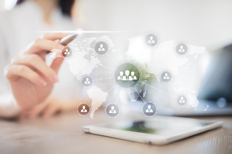Folkorganisationsstruktur Timme Personalresurser och rekrytering Kommunikation internetteknologi äganderätt för home tangent för  arkivfoton