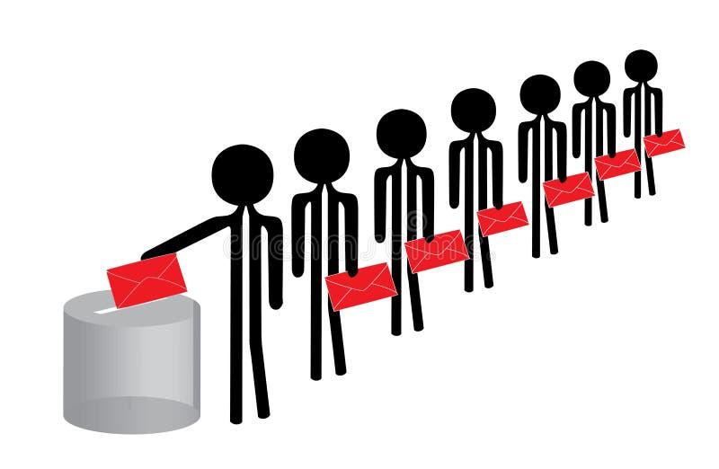 folkröstning vektor illustrationer