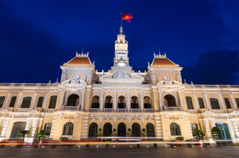 Folks kommittébyggnad i Ho Chi Minh City, Vietnam royaltyfria foton