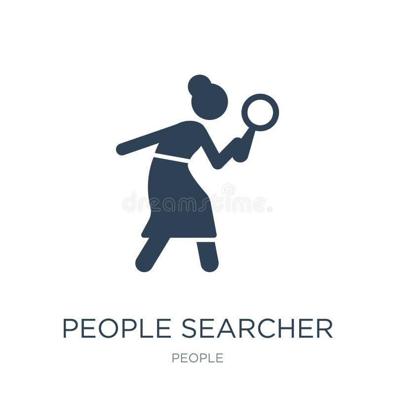 folksearchersymbol i moderiktig designstil folksearchersymbol som isoleras på vit bakgrund enkel symbol för folksearchervektor royaltyfri illustrationer