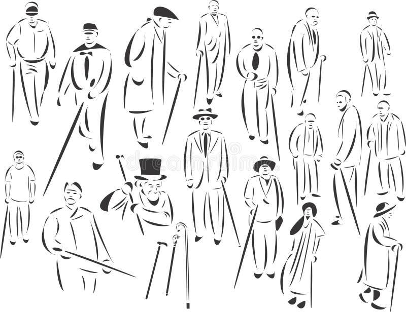 folksticks royaltyfri illustrationer
